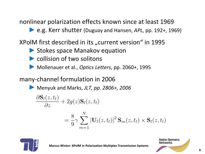 nonlinear polarization effects known since at least 1969