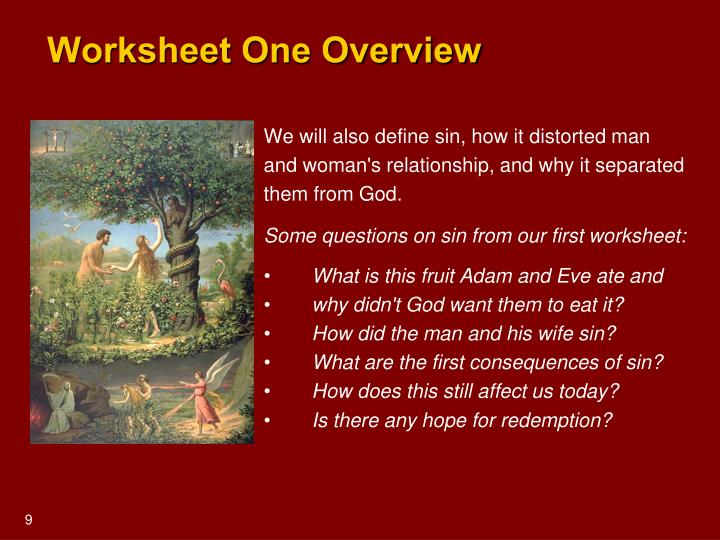 Worksheet One Overview