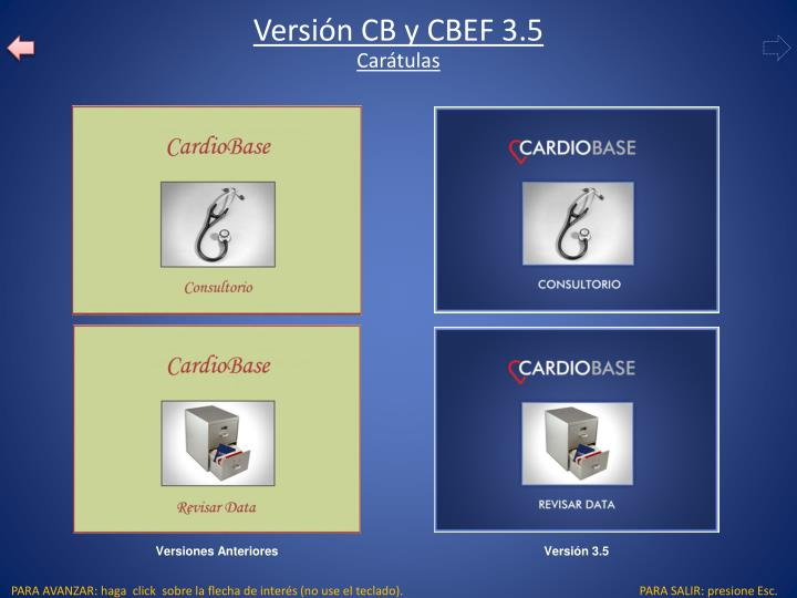 Versión CB y CBEF 3.5