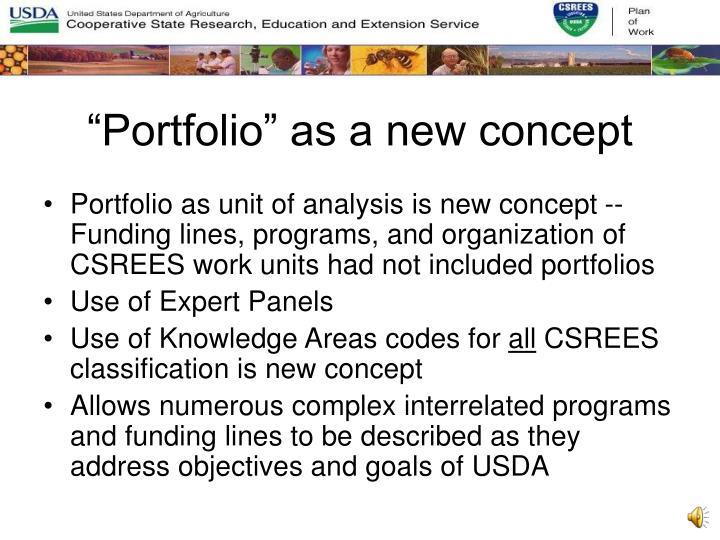 """""""Portfolio"""" as a new concept"""