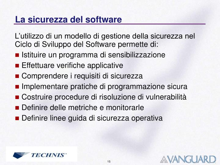 La sicurezza del software