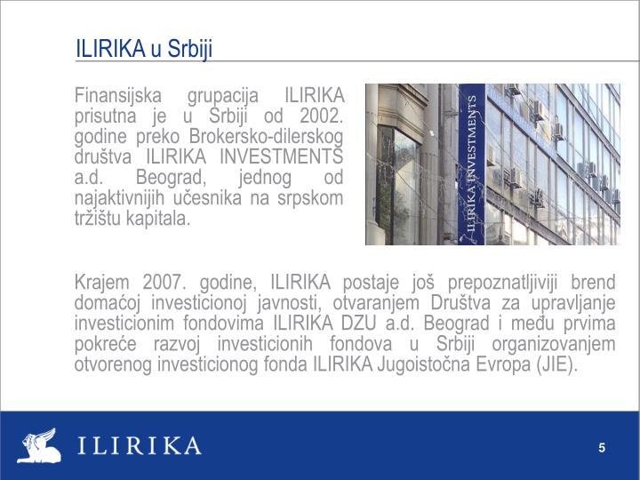ILIRIKA u Srbiji