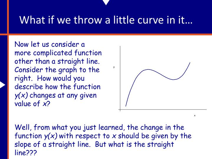 What if we throw a little curve in it…