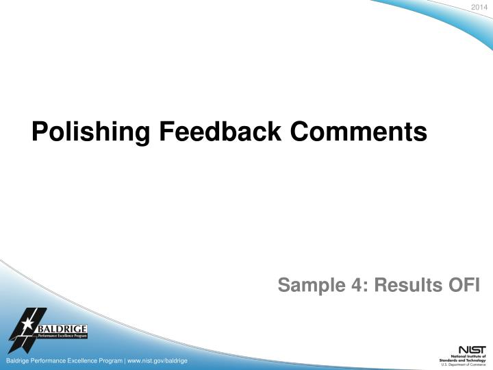 Polishing Feedback