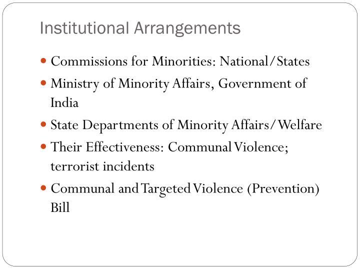 Institutional Arrangements