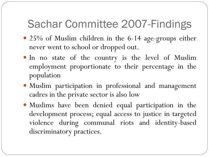 Sachar Committee 2007-Findings