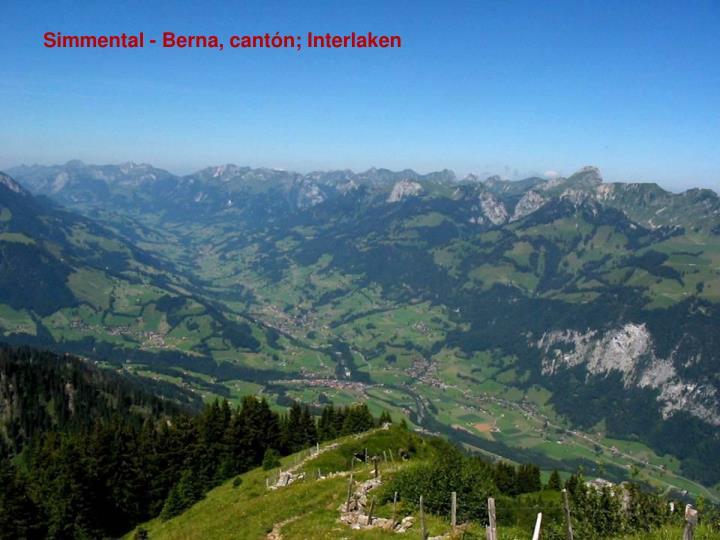 Simmental - Berna, cantón; Interlaken