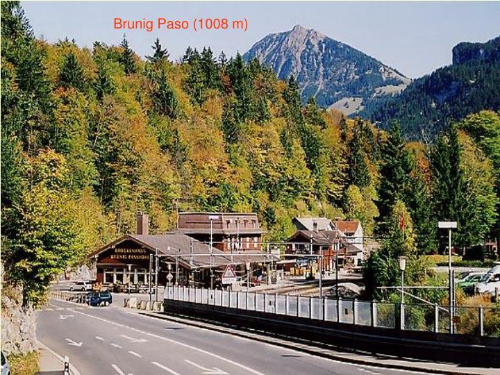 Brunig Paso (1008 m)