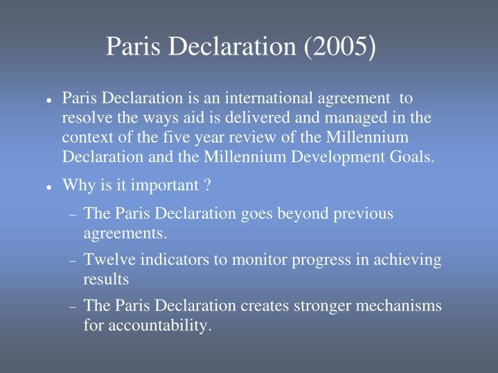 Paris Declaration (2005
