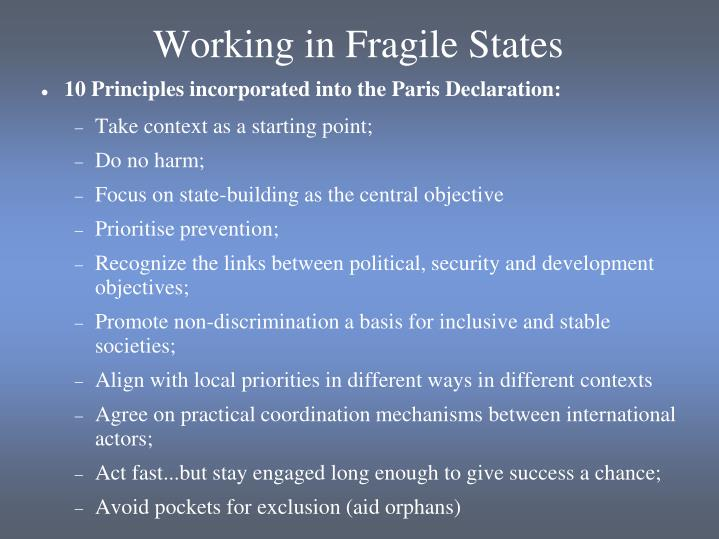 Working in Fragile States