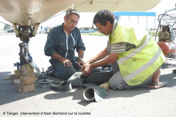 A Tanger, intervention dAlain Bertrand sur la roulette