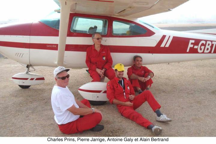 Charles Prins, Pierre Jarrige, Antoine Galy et Alain Bertrand