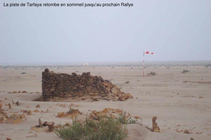 La piste de Tarfaya retombe en sommeil jusquau prochain Rallye