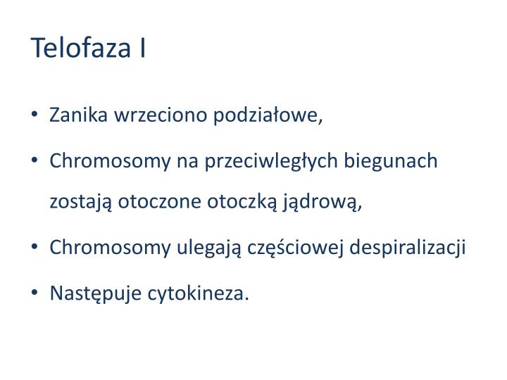Telofaza I