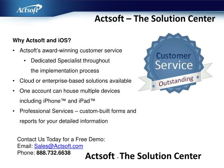 Actsoft – The Solution Center