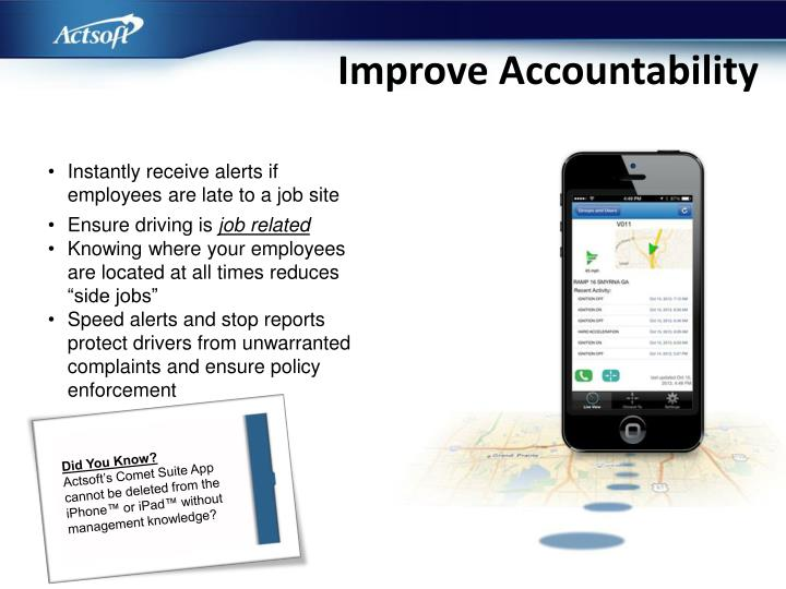 Improve Accountability