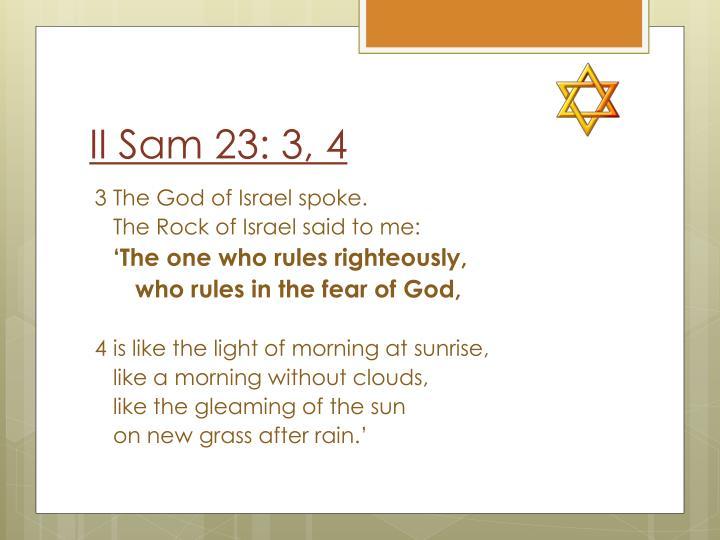 II Sam 23: 3, 4