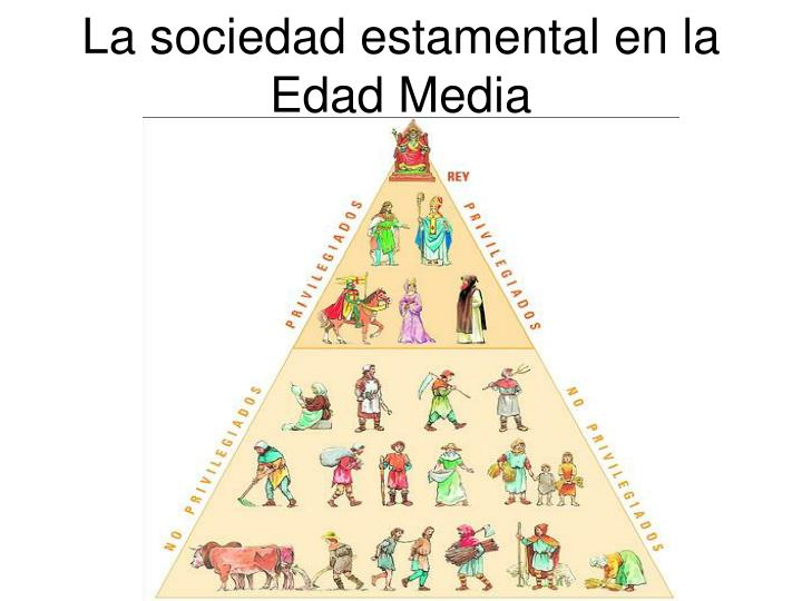 la sociedad estamental en la edad media