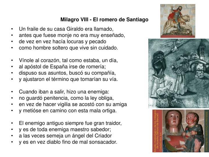 Milagro VIII - El romero de Santiago