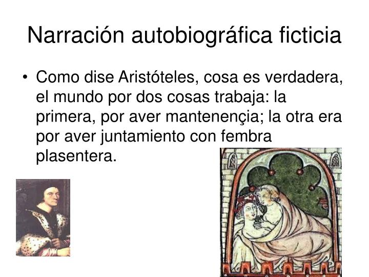 Narración autobiográfica ficticia