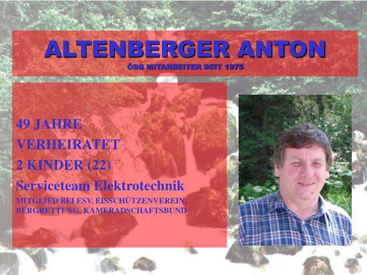 ALTENBERGER ANTON