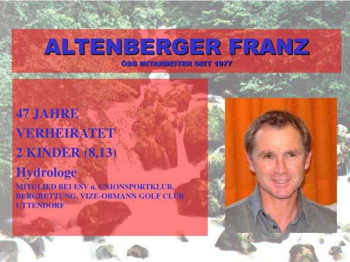 ALTENBERGER FRANZ