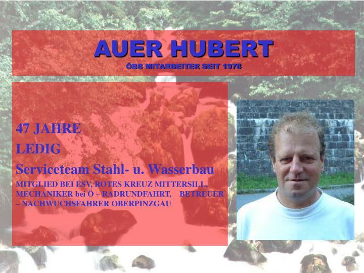AUER HUBERT