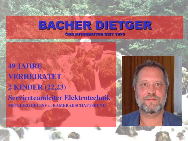 BACHER DIETGER