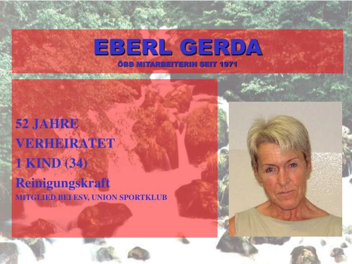 EBERL GERDA