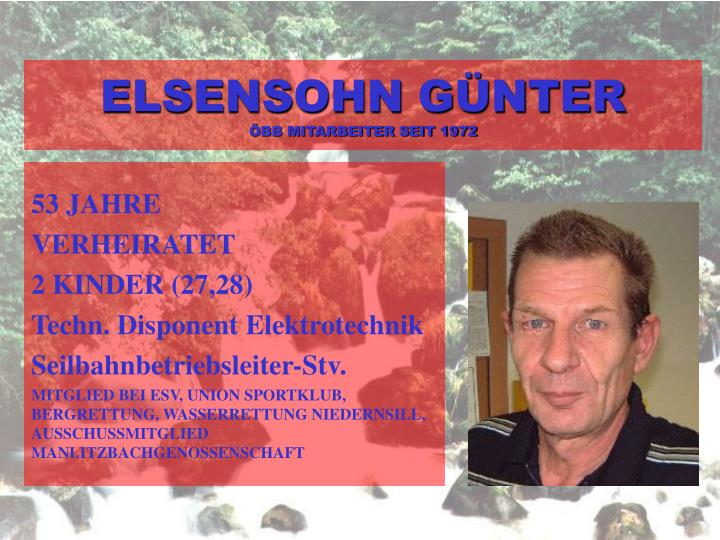ELSENSOHN GÜNTER