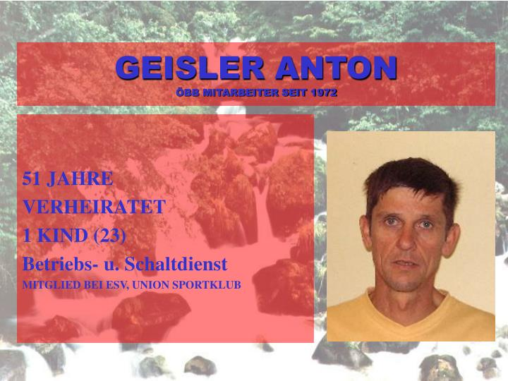GEISLER ANTON