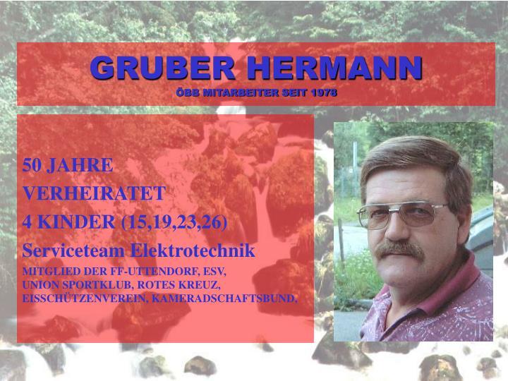 GRUBER HERMANN