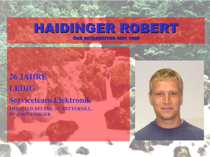 HAIDINGER ROBERT