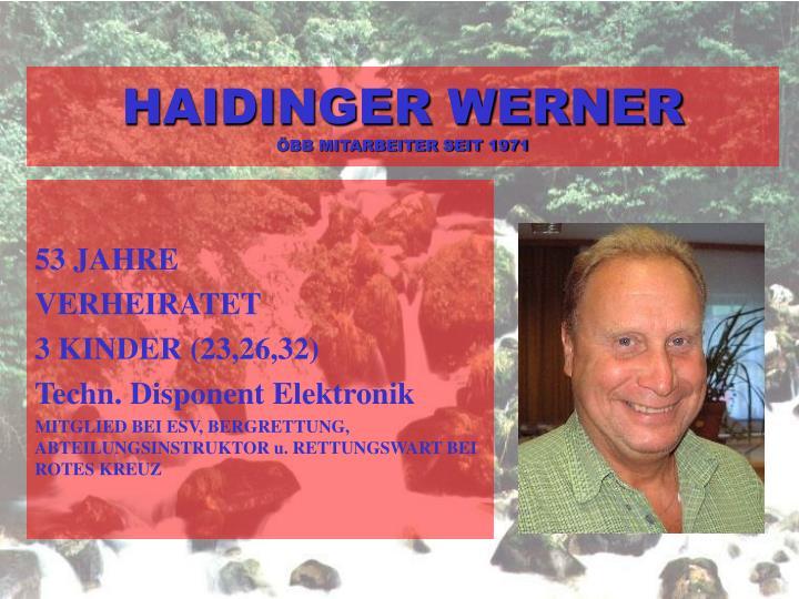 HAIDINGER WERNER