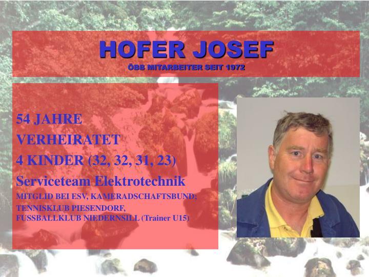 HOFER JOSEF