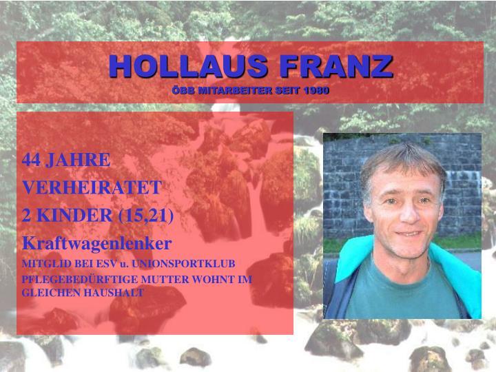 HOLLAUS FRANZ