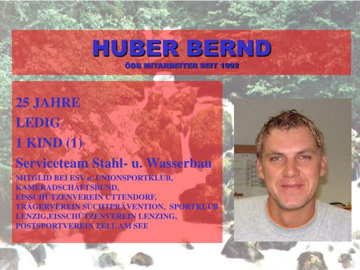 HUBER BERND