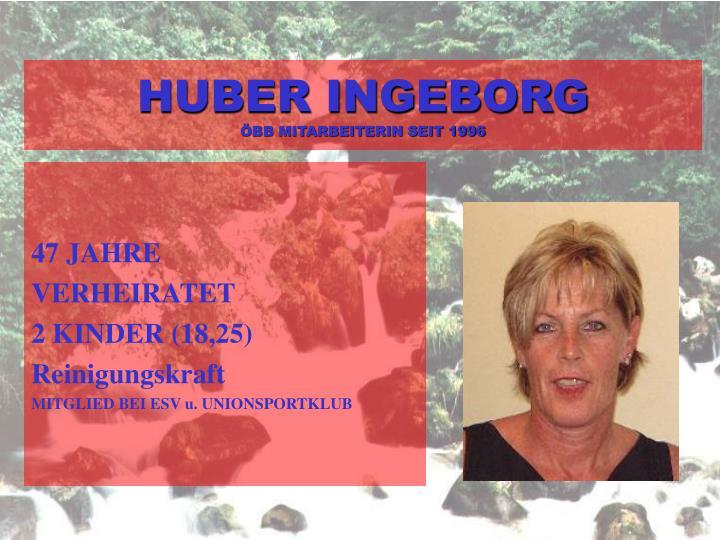 HUBER INGEBORG