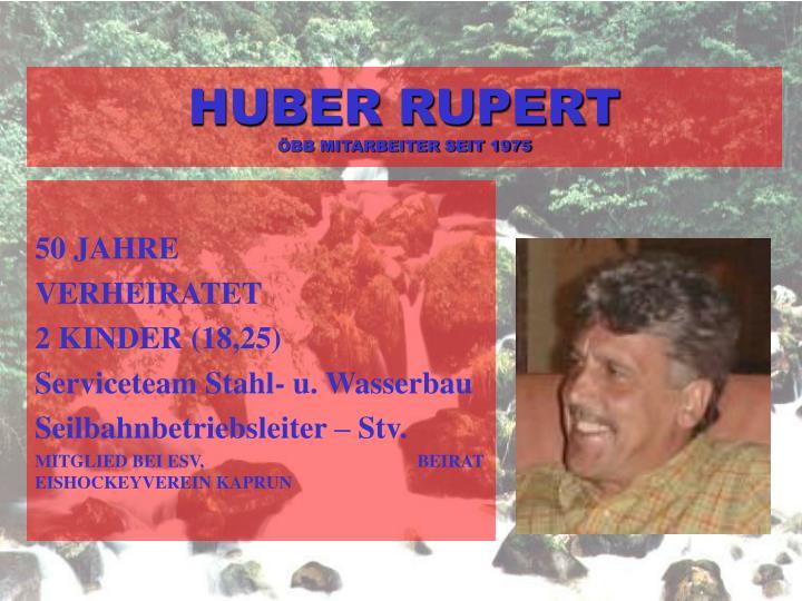 HUBER RUPERT