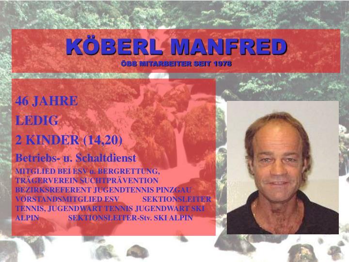 KÖBERL MANFRED