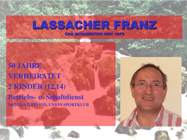 LASSACHER FRANZ