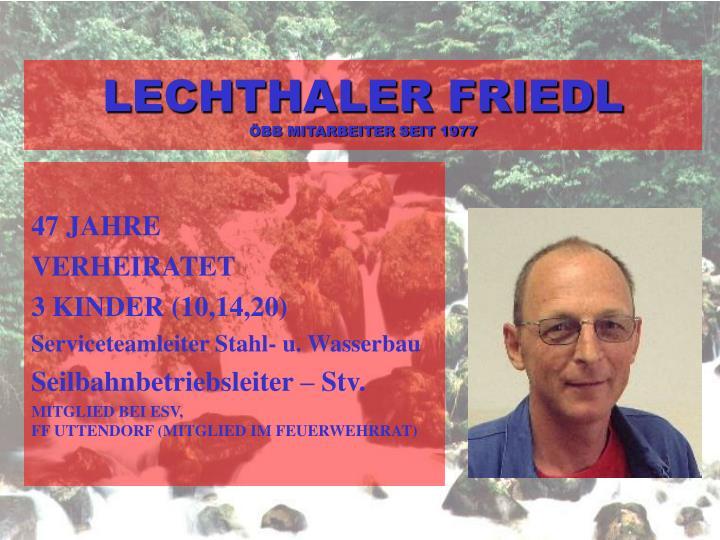 LECHTHALER FRIEDL