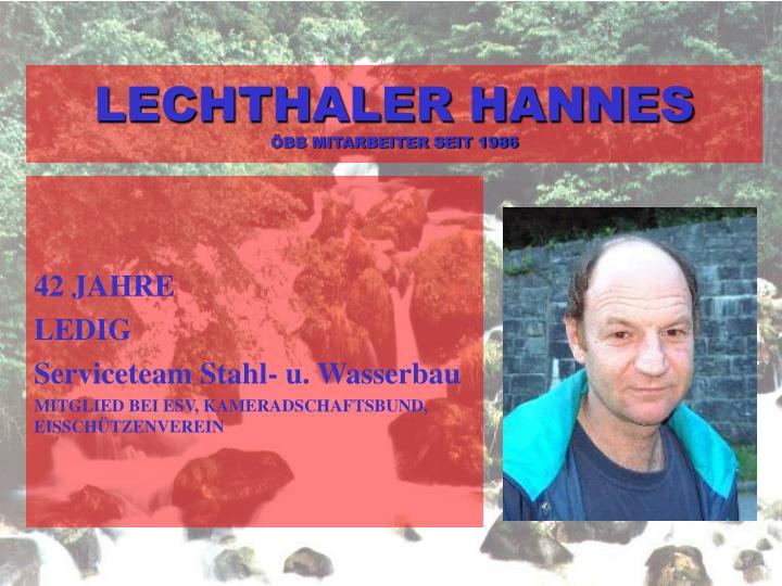 LECHTHALER HANNES