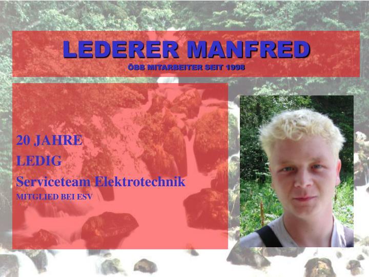 LEDERER MANFRED