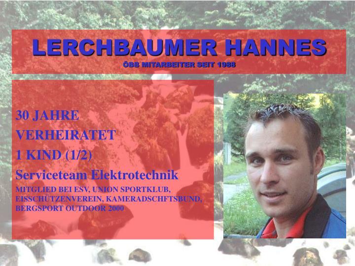 LERCHBAUMER HANNES