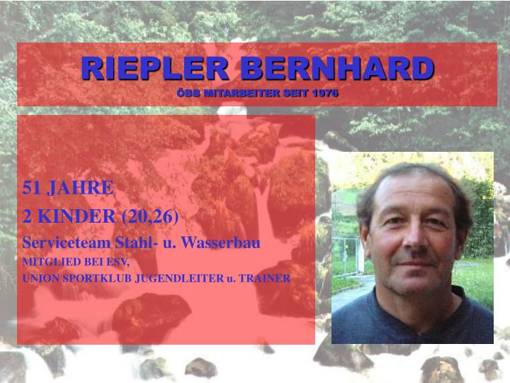 RIEPLER BERNHARD
