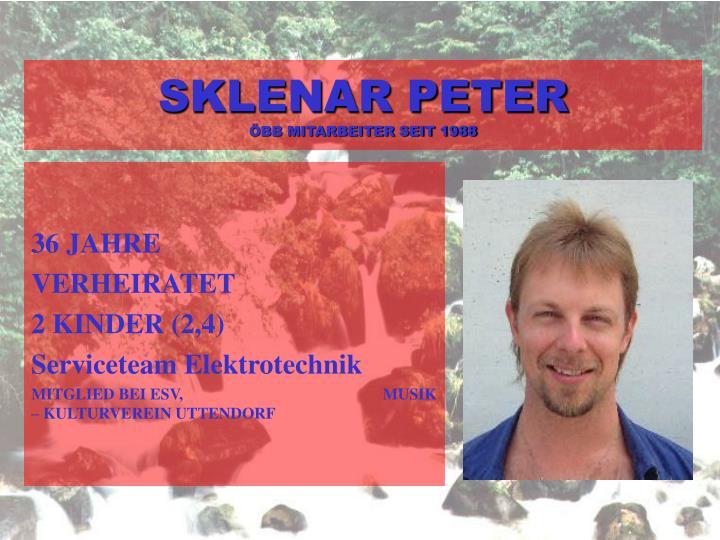 SKLENAR PETER