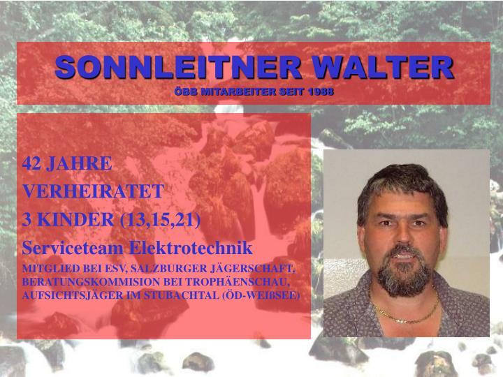 SONNLEITNER WALTER