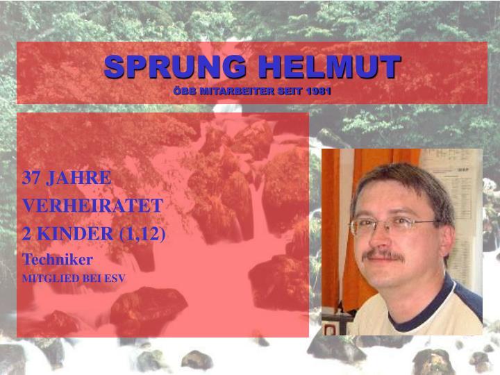 SPRUNG HELMUT