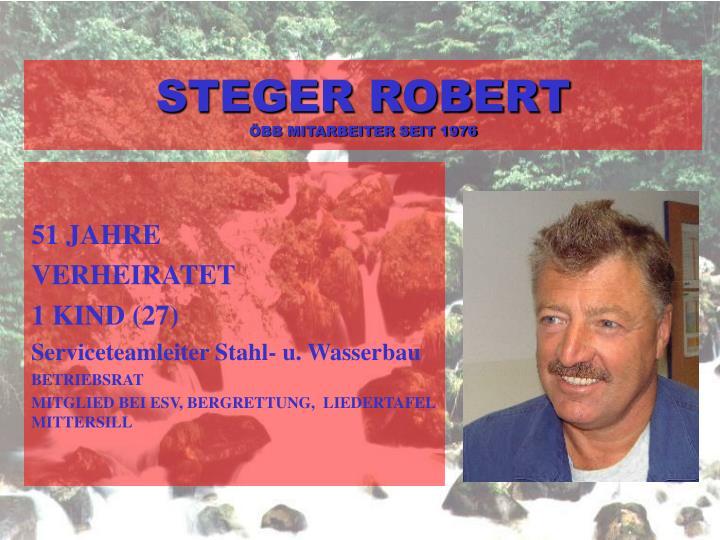 STEGER ROBERT